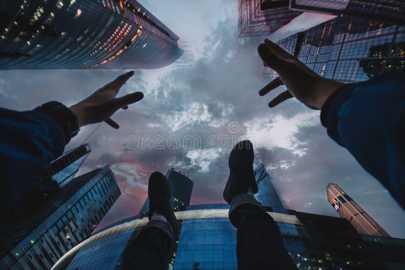 Небоскребы над вами стоковые фотографии rf