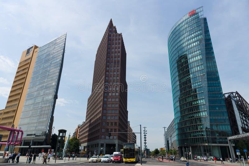 Небоскребы на Potsdamer Platz стоковое фото rf