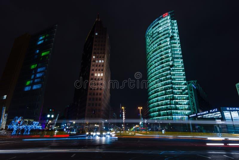 Небоскребы на Potsdamer Platz стоковые фотографии rf