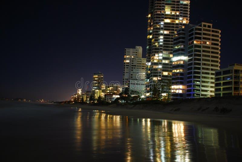 небоскребы ночи стоковое фото rf