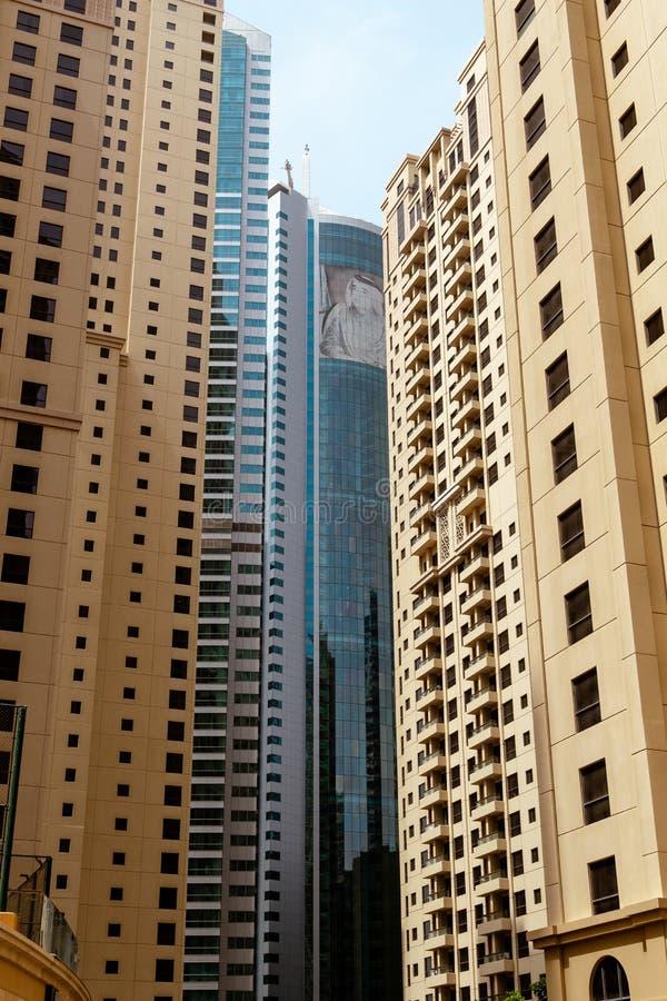 Небоскребы от Дубай, ОАЭ стоковая фотография