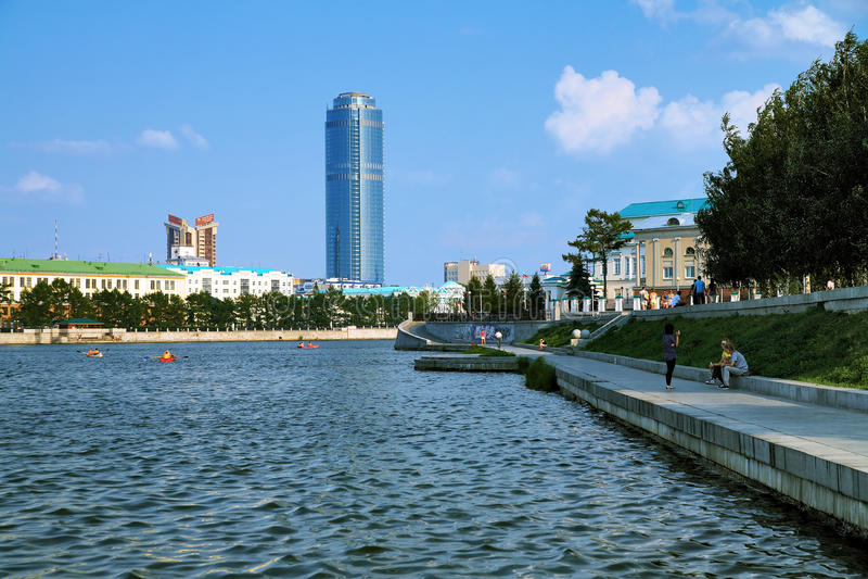 небоскребы России ekaterinburg, котор нужно осмотреть стоковые фотографии rf