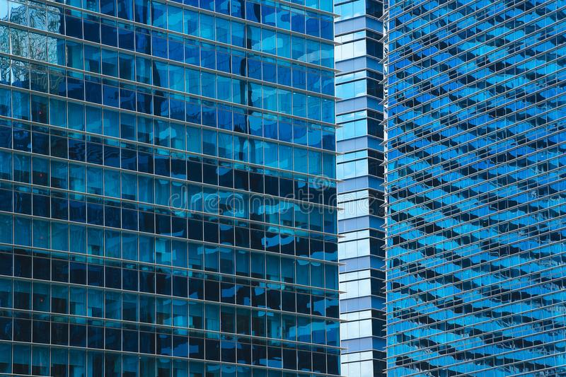 небоскребы синего стекла стоковая фотография rf