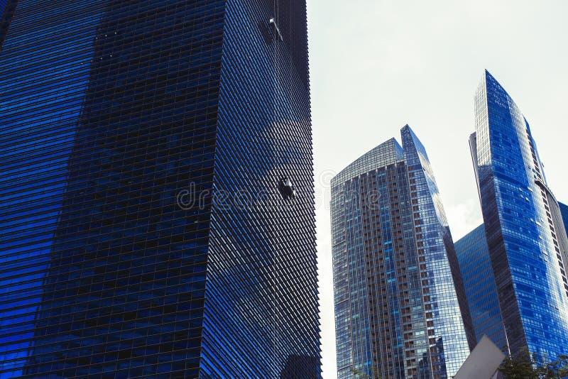 Небоскребы финансового района метрополии Путешествия стоковое фото rf