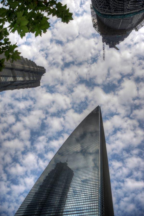 Небоскребы Шанхая стоковые фото