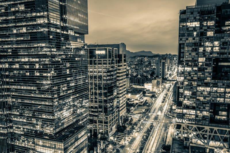 Небоскребы Gangnam стоковое изображение rf