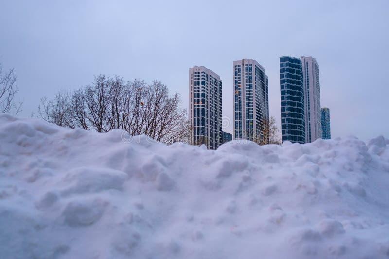 небоскребы moscow города стоковое изображение