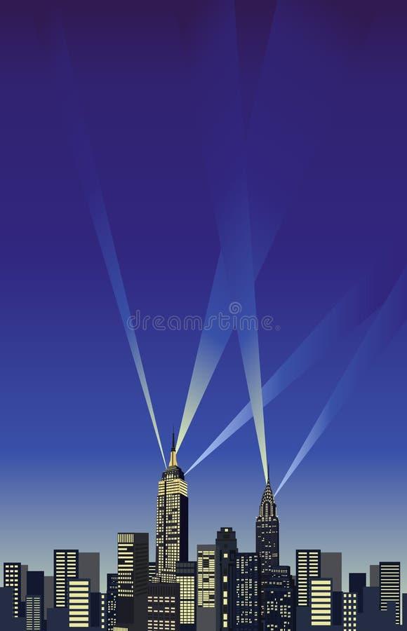 Небоскребы New York иллюстрация штока