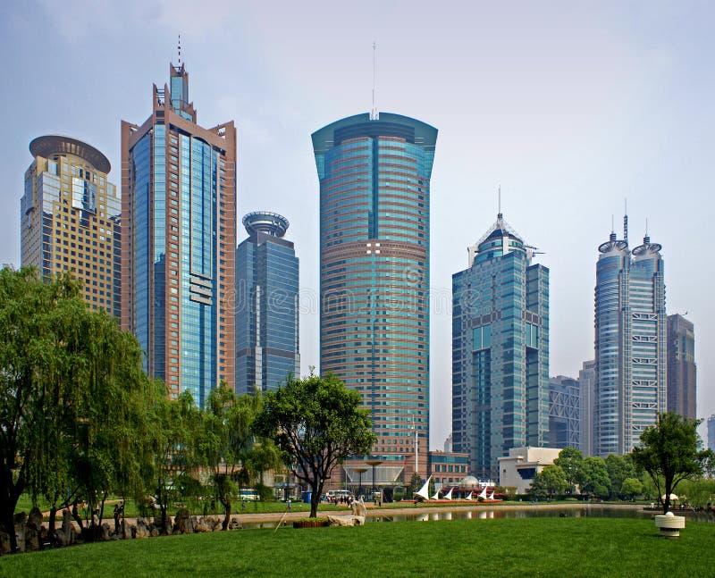 небоскребы shanghai стоковая фотография