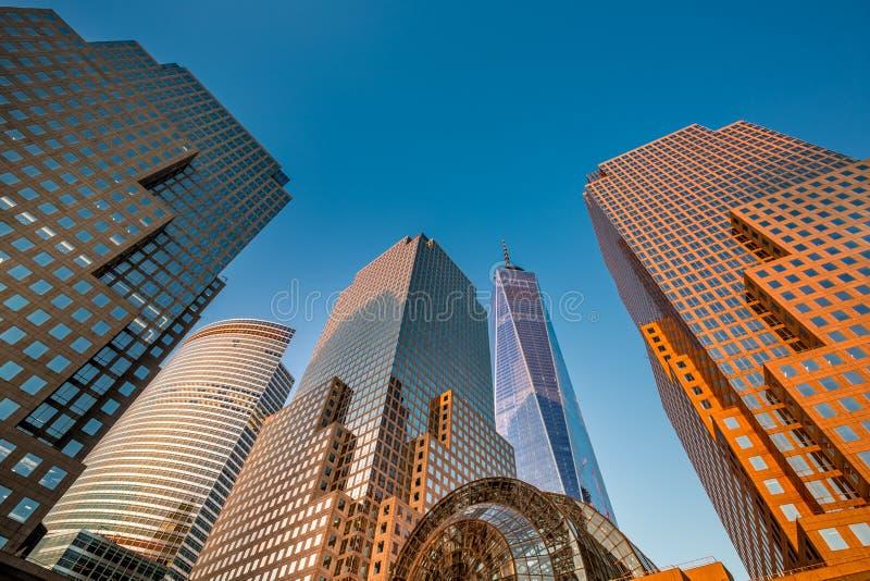 небоскребы york города новые стоковое изображение