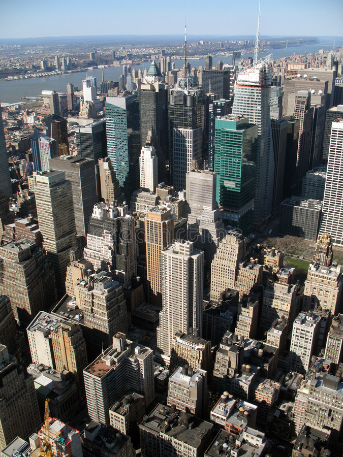 небоскребы york города новые стоковое фото rf