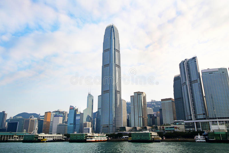 Небоскреб района Гонконга центральный финансовый, Гонконг, Китай стоковое изображение