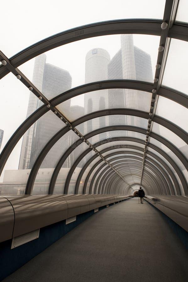 Небоскреб ренессанса разбивочный - General Motors - городской Детройт, Мичиган стоковое изображение rf