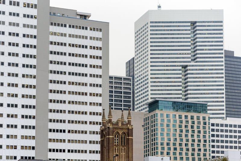Небоскрёбы в Хьюстоне, Соединенные Штаты Америки стоковое изображение rf
