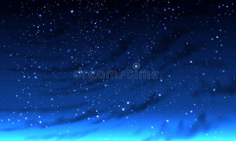 Небо абстрактной туманной ночи звёздное бесплатная иллюстрация
