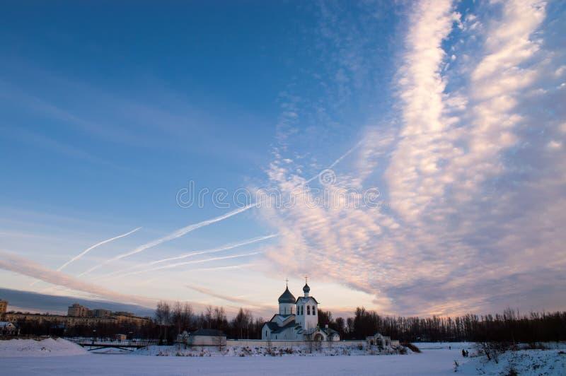 Небо вечера стоковая фотография rf