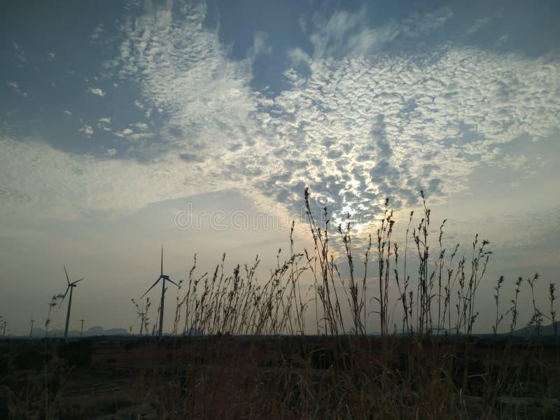 Небо в утре стоковая фотография rf