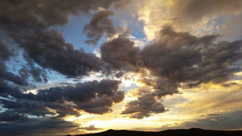 Небо в taos nm стоковое фото rf