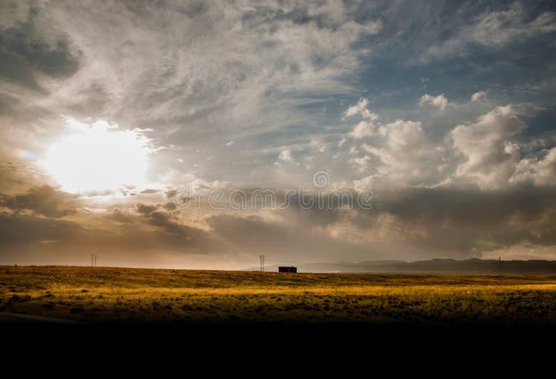 Небо Гоби стоковое фото rf