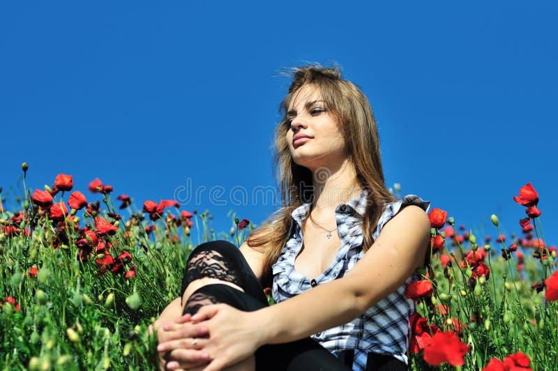 Download небо голубых маков стоковое изображение. изображение насчитывающей сработанность - 17609543