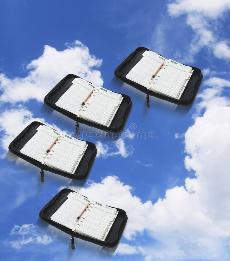 небо голубых устроителей карманное стоковые изображения rf
