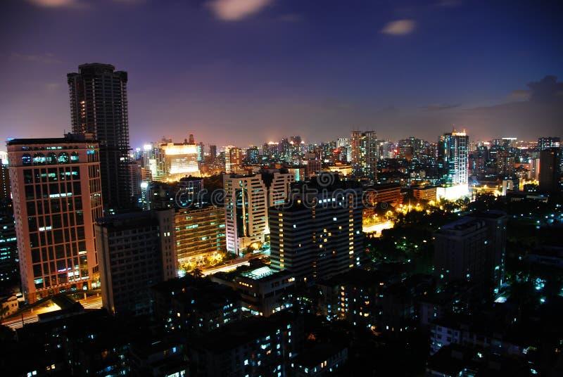 небо города стоковое изображение rf