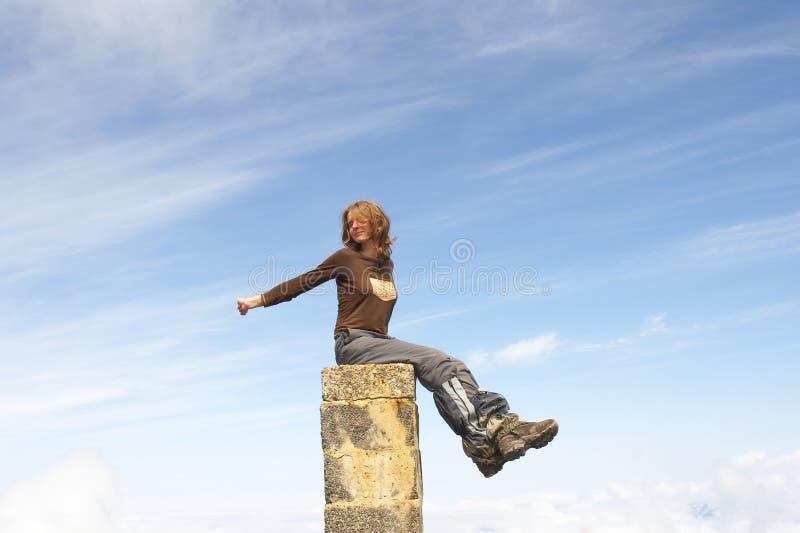 небо девушки стоковое фото