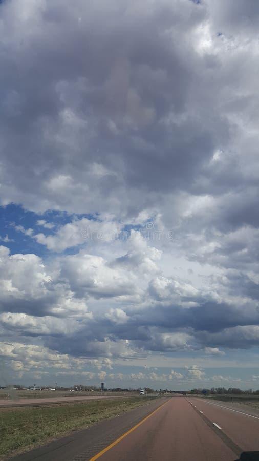Небо лета Небраски стоковые изображения rf