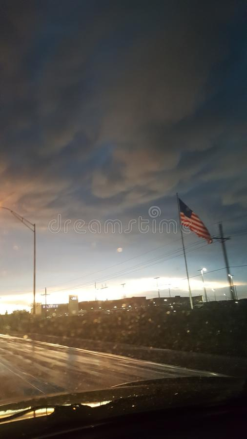 Небо лета Небраски стоковые фотографии rf