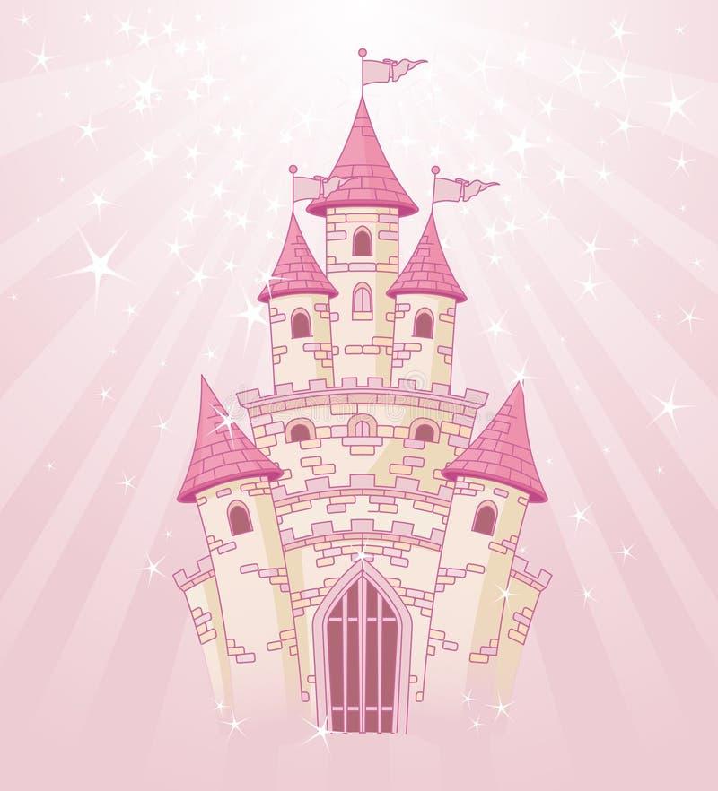 небо замока розовое бесплатная иллюстрация