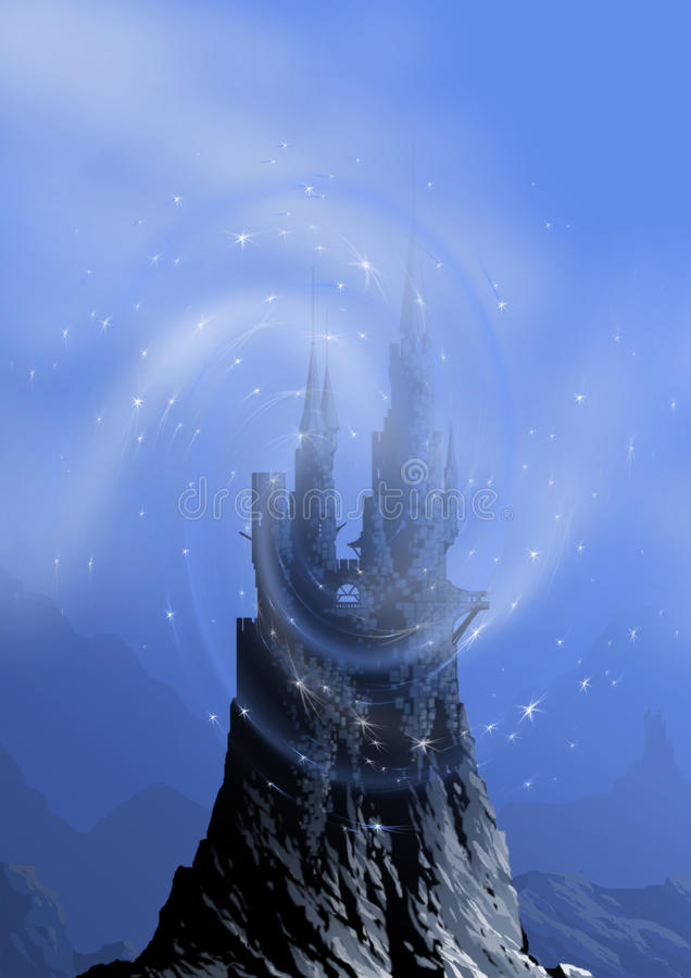 небо замока иллюстрация штока
