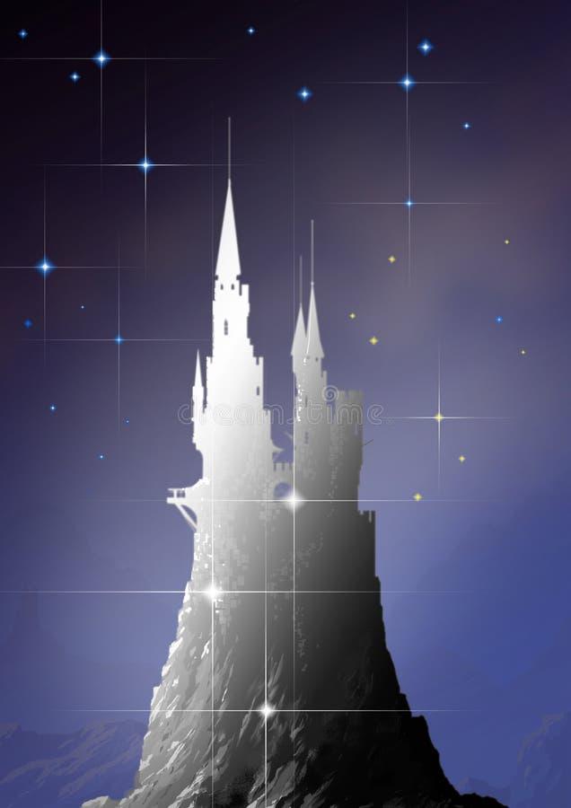 небо замока стоковая фотография rf