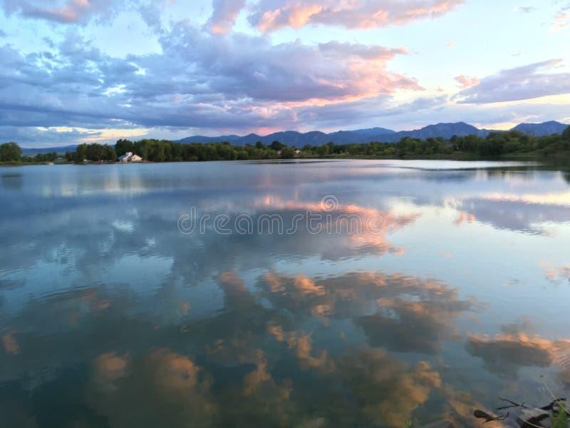 Небо захода солнца Лафайета стоковое фото