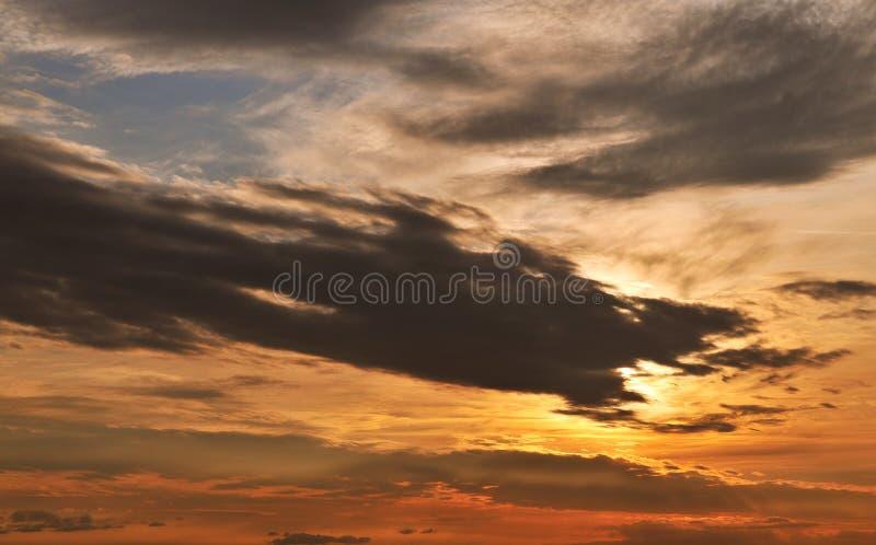 Небо захода солнца стоковая фотография