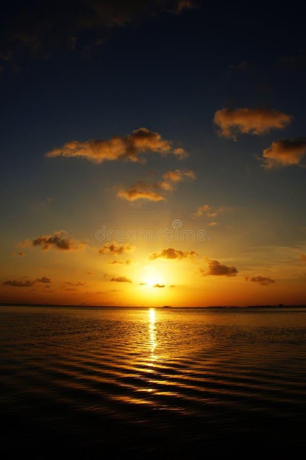 Небо захода солнца, Таиланд стоковая фотография rf