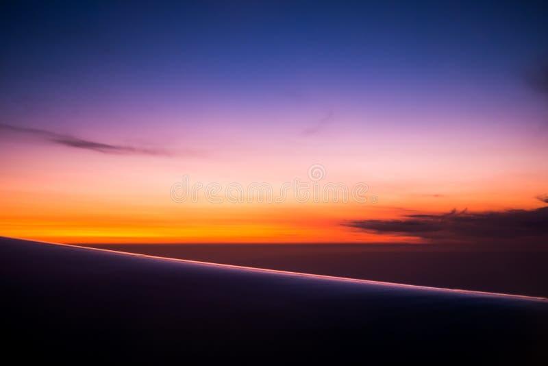 Небо захода солнца стоковые фотографии rf