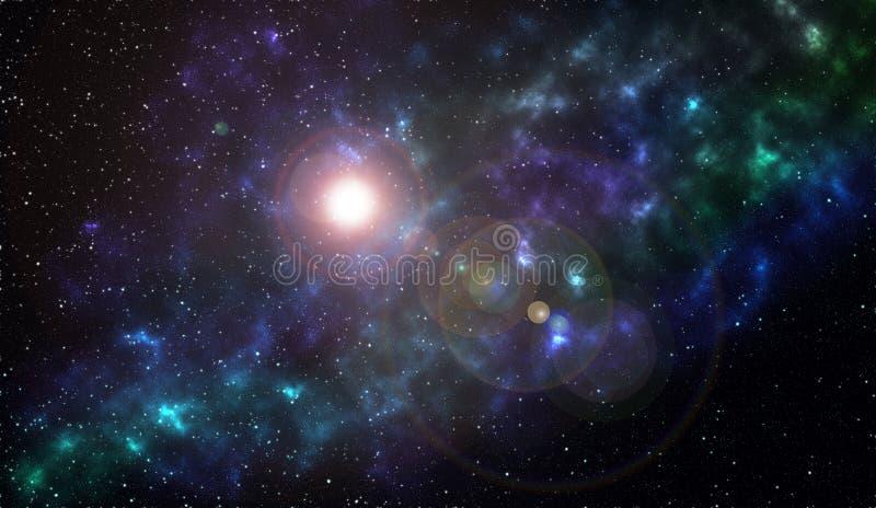 небо звёздное Звезды и межзвёздные облака в глубоком космическом пространстве иллюстрация вектора