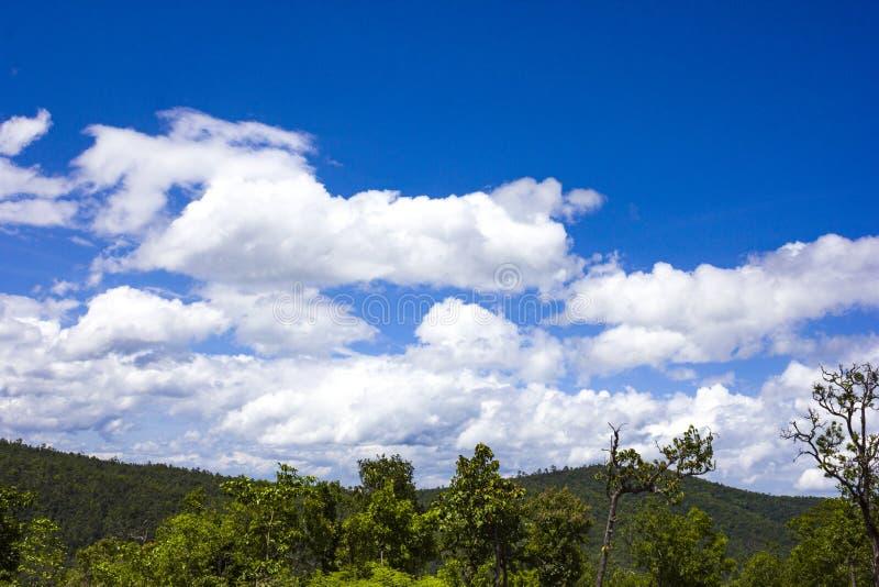 Небо и гора стоковые фотографии rf