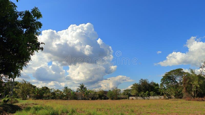 Небо и красивые облака в ярких днях стоковая фотография rf