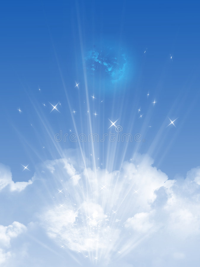 Небо и облака иллюстрация вектора
