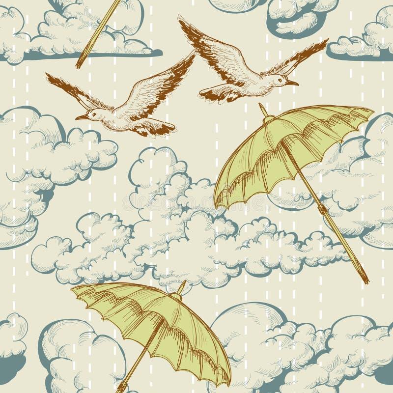 небо картины безшовное иллюстрация вектора