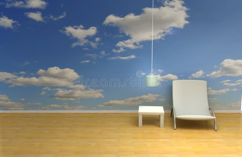 небо комнаты иллюстрация вектора