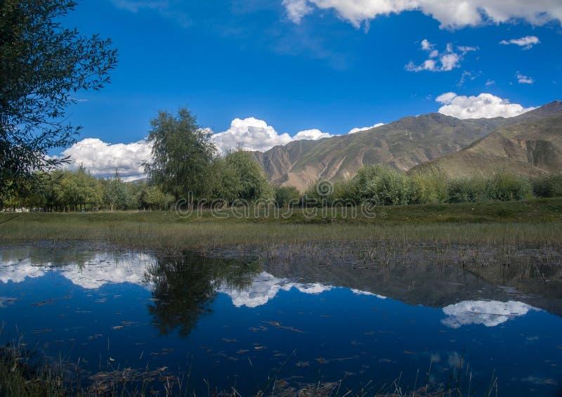Небо Лхасы стоковое фото