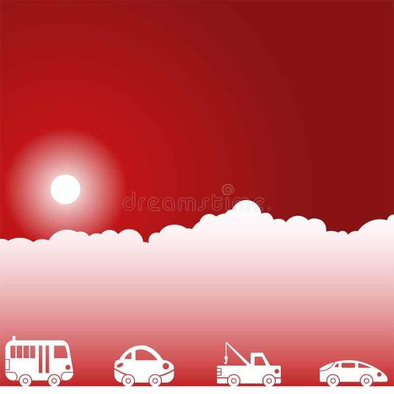 небо места дня автомобилей иллюстрация штока