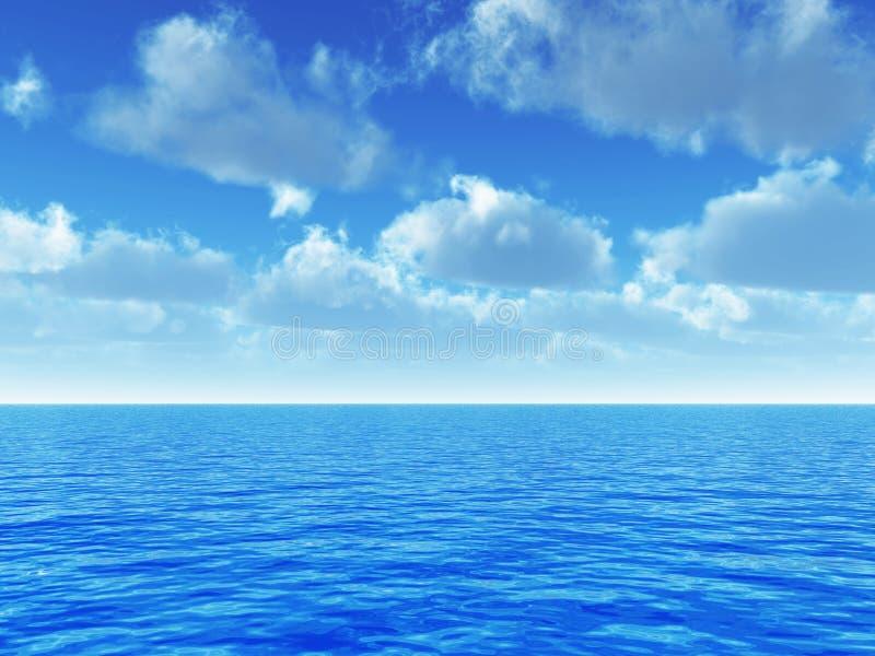 небо моря иллюстрация штока