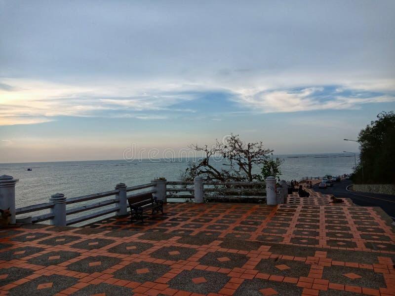 Небо над морем стоковая фотография rf
