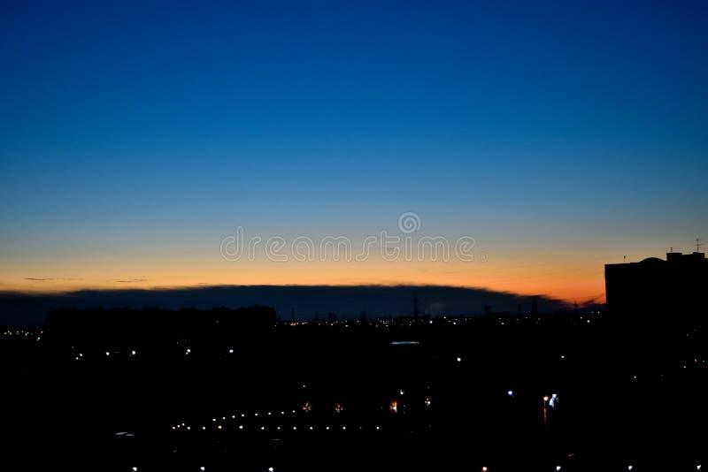Небо на зоре стоковая фотография