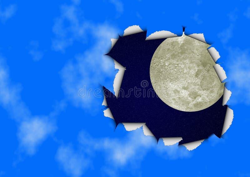 небо отверстия иллюстрация вектора