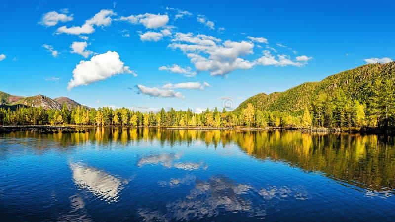 Небо отражено в озере стоковые фото