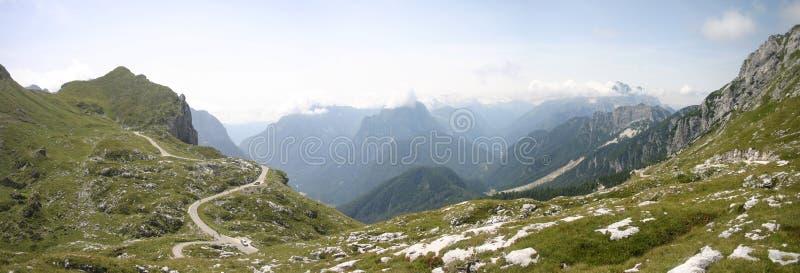 небо панорамы горы фильтра померанцовое стоковые изображения